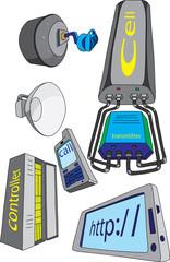 Оборудование и устройства предназначенные для  сотовой связи