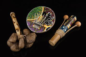 Instrumentos musicales de percusión.