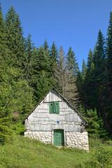 Mountain Hut In Durmitor National Park, Montenegro