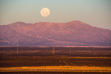 Full-moon, Atacama desert of Chile