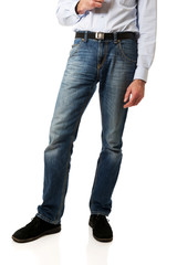 Full length of a men in jeans trousers