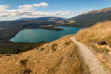 aerial view of lake Rotoiti in Nelson Lakes National Park