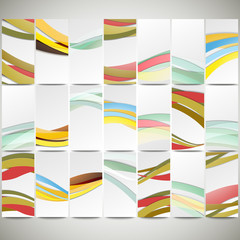 Abstract flyers set, wave vector design