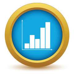 Gold chart icon