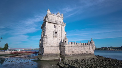 Belem Tower is a fortified tower located in the civil parish of