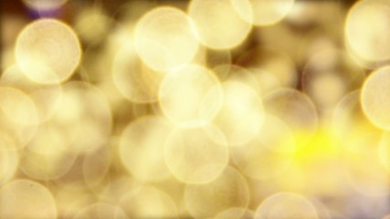 An abstract display of golden light circles