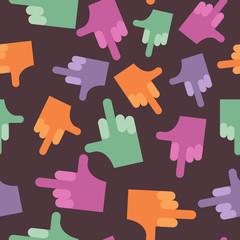 fuck seamless pattern. background hands. Vector illustration