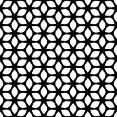 Decorative Seamless Floral Geometric Black & White Background