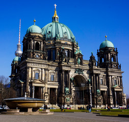 BERLIN - MARCH 18: Berlin Cathedral located on Museum Island, a
