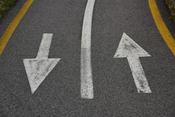 frecce su strada