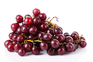 red grape isolated on white