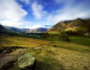 Footpath into the Great Langdale Valley