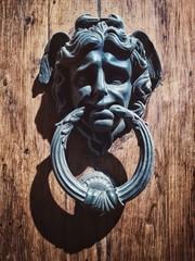 Original door handle. Siena, Italy.
