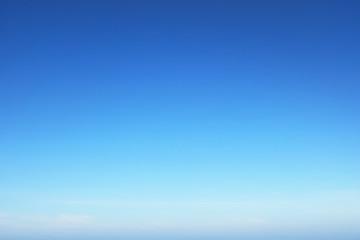 Blank blue sky surface