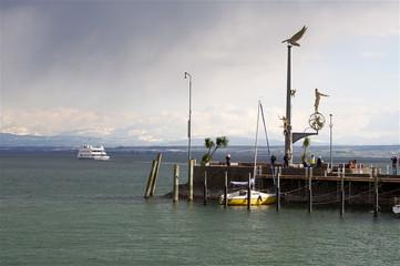 Meersburger Pier, Schiffanlegestelle