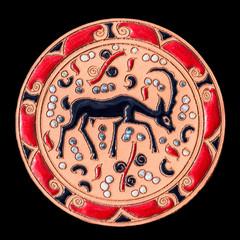 Ceramic dish with decorations
