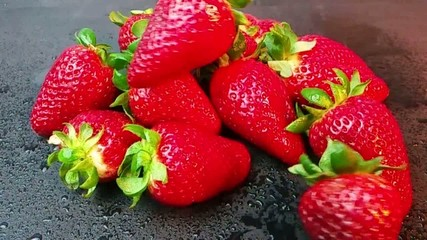 Strawberries in slow motion