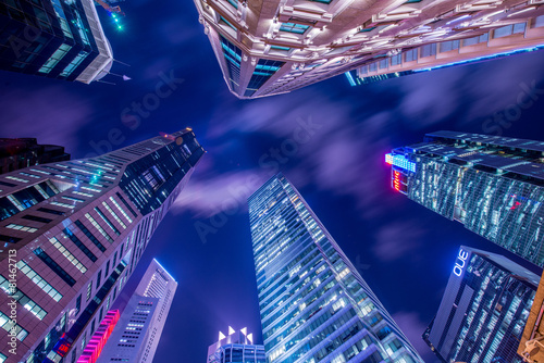 Singapore - AUGUST 4, 2014: Office buildings on August 4 in - 81462713
