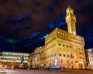 Palazzo Vecchio, the town hall of Florence - Italy