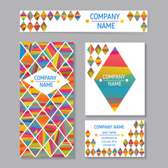 vector set of abstract creative business cards