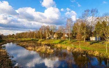 The Leine river in Gottingen - Germany, Lower Saxony