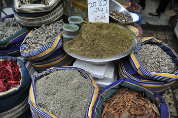 Spice market in old Acre