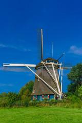 Windmill in Amsterdam, Holland, Netherlands