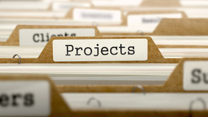 Projects Concept with Word on Folder.