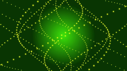 green abstract loop background