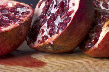 ripe juicy pomegranates