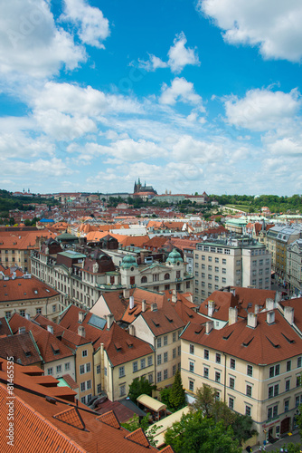 Foto op Canvas Bedehuis View of Prague on bright summer day