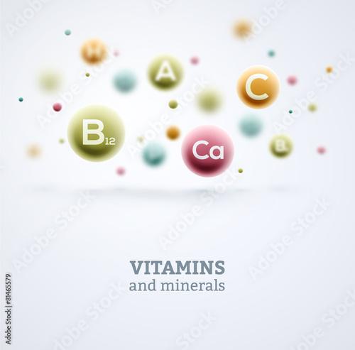 Fototapeta Vitamins and Minerals