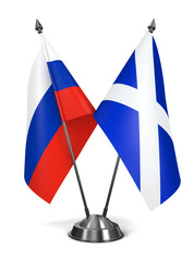 Russia and Scotland - Miniature Flags.