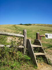 Fence Crossing along the AT at Max Patch