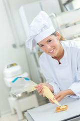 Baker piping cream