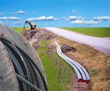 "Постер, картина, фотообои ""Digging for broadband"""