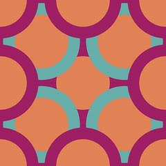 seamless pattern of colored circles