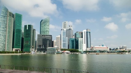 Singapore Skyline at Marina Bay Downtown Financial District