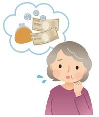 シニア女性 お金の心配