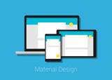 material design responsive web interface layout
