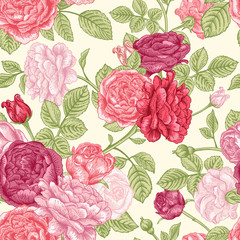 Seamless pattern wit roses
