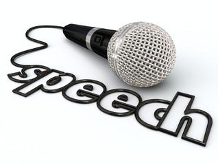 Speech Word Microphone Cord Public Speaking Presentation
