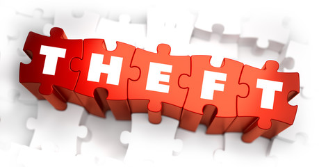 Theft - White Word on Red Puzzles.