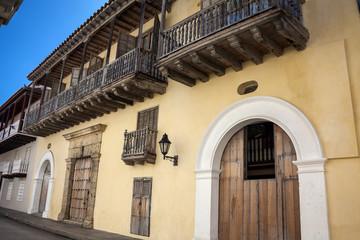 Fachada en Cartagena de Indias