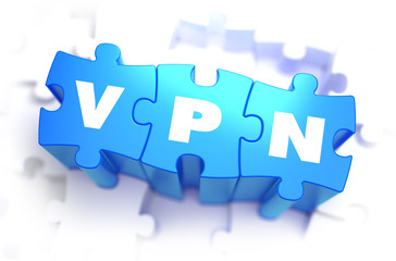 VPN - White Word on Blue Puzzles.