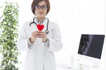 Physicians have a red heart