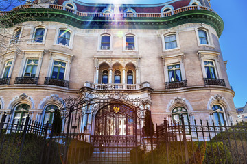 Indonesian Embassy Lens Flare Massachusetts Avenue Washington DC