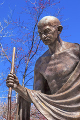 Gandhi Statue Indian Embassy Embassy Row Washington DC