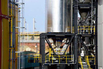 Hochtechnisierte Industrieanlage