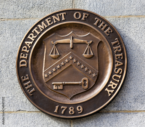 Present Seal Sign Symbol US Treasury Department Washington DC - 81471152